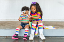 when we wear our matching rainbow pride socks