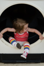 i feel pretty fearless hanging out in the dryer wearing my rainbow striped tube socks.