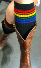 pride socks are perfect for cowgirl boots.