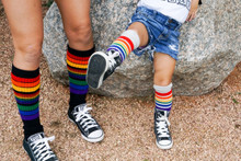 i love when my daughter and i wear matching love pride socks