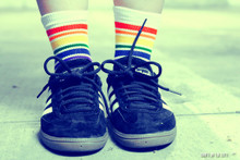 trending alert.  pride socks are amazing and keep your feet comfortable while you show off your pride.