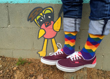 art graffiti looks creative with my rainbow argyle socks for women.