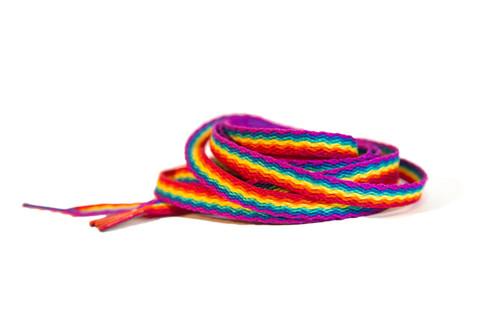Pride Socks Rainbow Shoelaces
