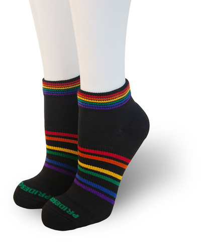 wear your black athletic pride socks when you run, golf or bike around town.