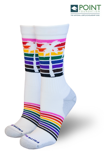 Jason collins pride socks palm tree socks to help raise money for point foundation after he played for the nba and coming out as gay