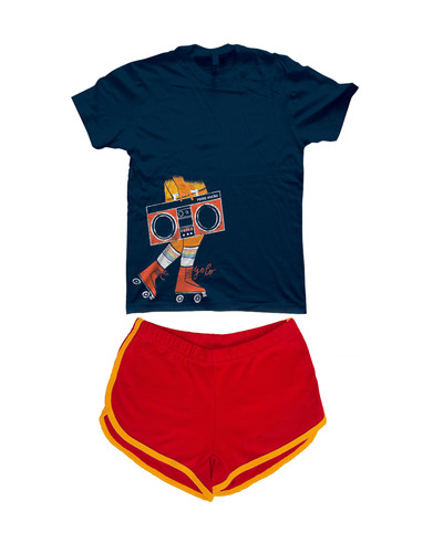 rock your pride socks roller skater shirt with your favorite retro red skater shorts