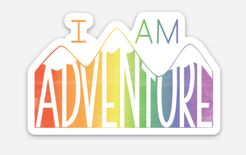 show off your adventurous side of who you are with your i am adventure pride socks sticker