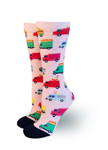 rainbow foodie truck pride socks in austin texas
