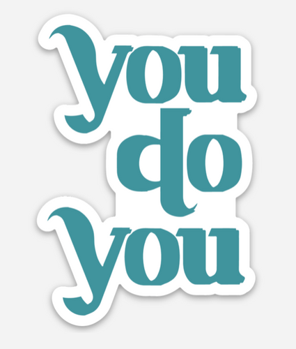 you do you pride socks sticker