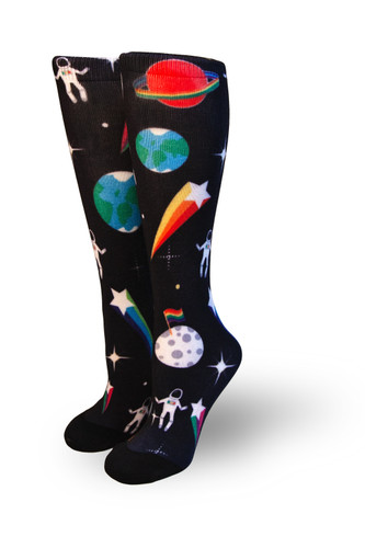 rainbow astronaut socks to keep you feeling out of this world.