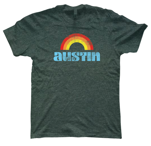austin loves you vintage retro shirt from pride socks
