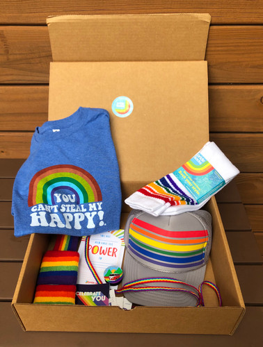 celebrate pride all year long with our pride rainbow gear from a small business in austin texas