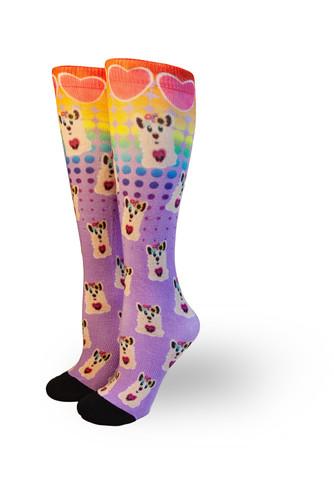 llama socks from pride socks made in the artist series from natalie green in utah