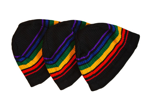 rock your black pride socks rainbow beanie every where