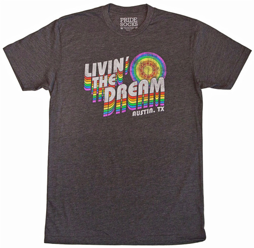 Austin texas living the dream pride socks vintage shirt