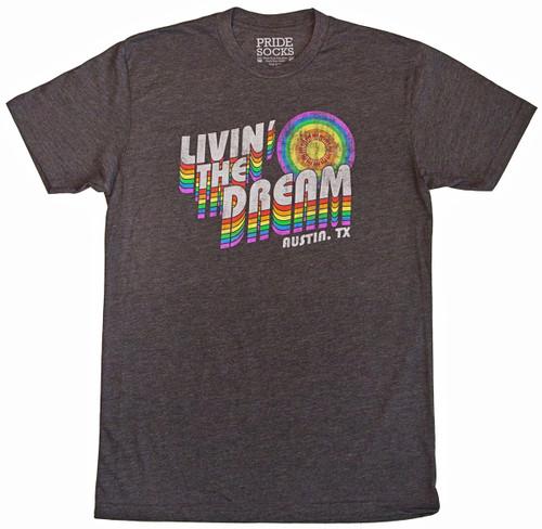 Austin texas living the dream pride socks vintage shirt