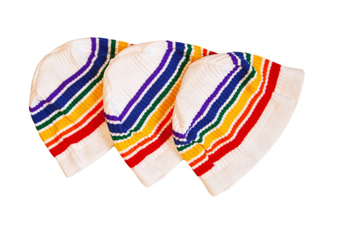pride socks white beanie to keep you snuggle warm in the winter