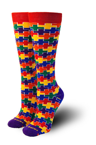 Women rainbow casual pride socks