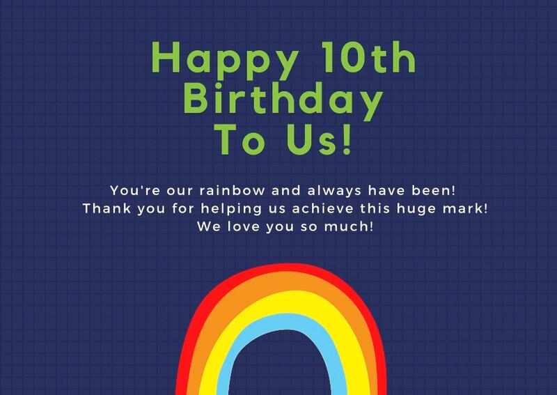 Happy 10th Birthday Pride Socks!
