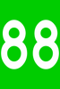 """Campsite Marker Green with White Characters 4"""" x  6"""""""