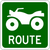 ATV Route with Icon Information Trail Sign