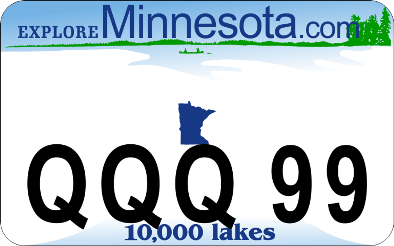 Minnesota Style ATV License Plate ATV license Plate