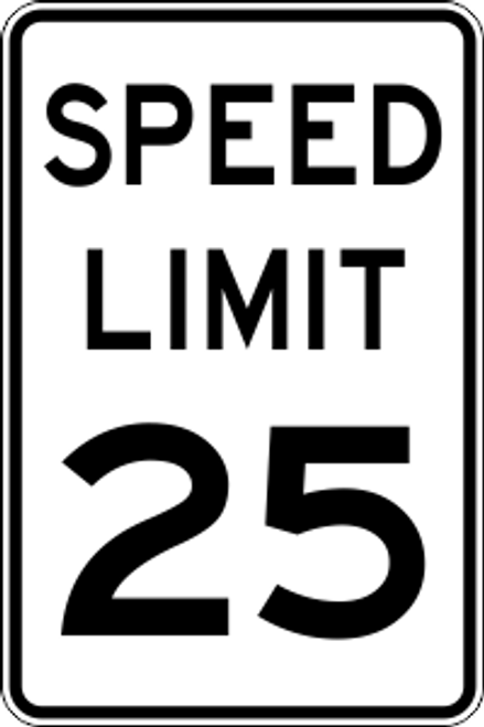 "12' x 18"" Speed Limit Trail Sign"
