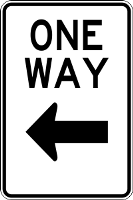 "12"" x 18"" One Way Left Trail Sign"