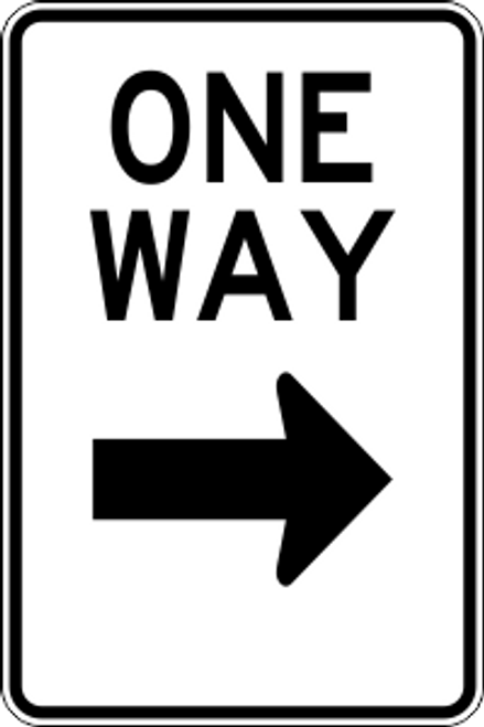 "12"" x 18"" One Way Right Trail Sign"