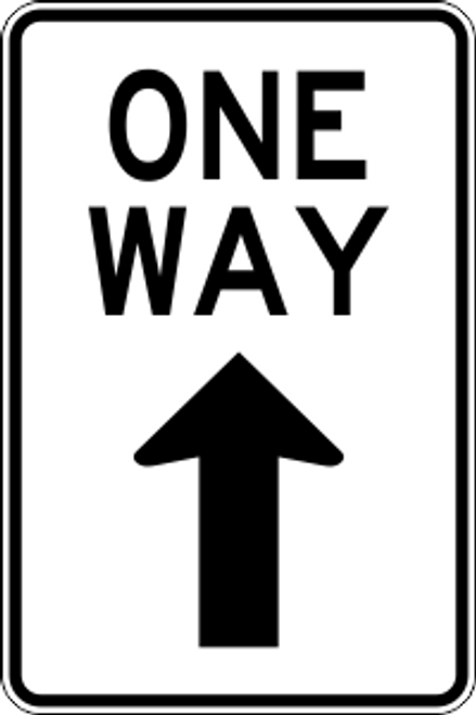 "12"" x 18"" One Way Ahead Trail Sign"