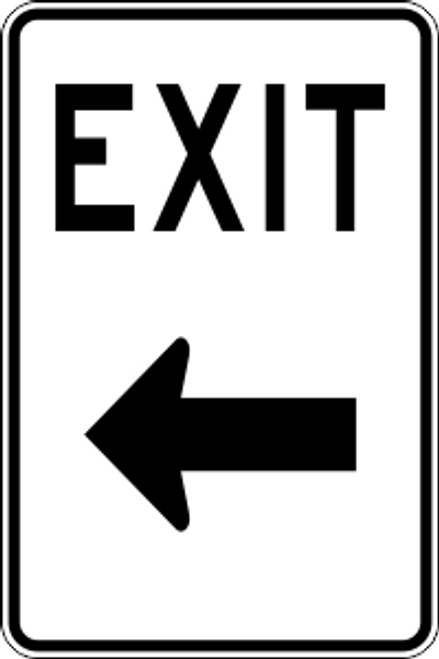 "12"" x 18"" Exit Left Trail Sign"