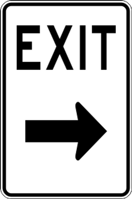 "12"" x 18"" Exit Right Trail Sign"