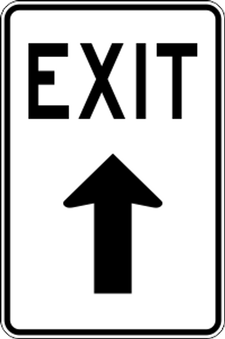 "12"" x 18"" Exit Ahead Trail Sign"