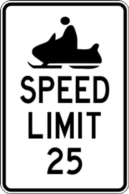 "12' x 18"" Snowmobile Speed Limit Trail Sign"