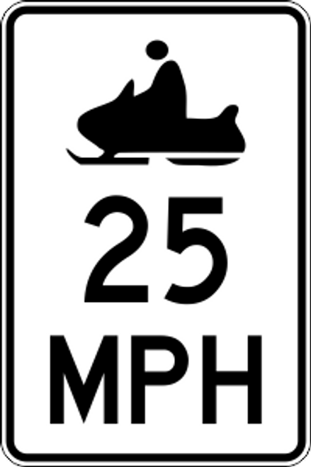 "12' x 18"" Snowmobile MPH Limit Trail Sign"