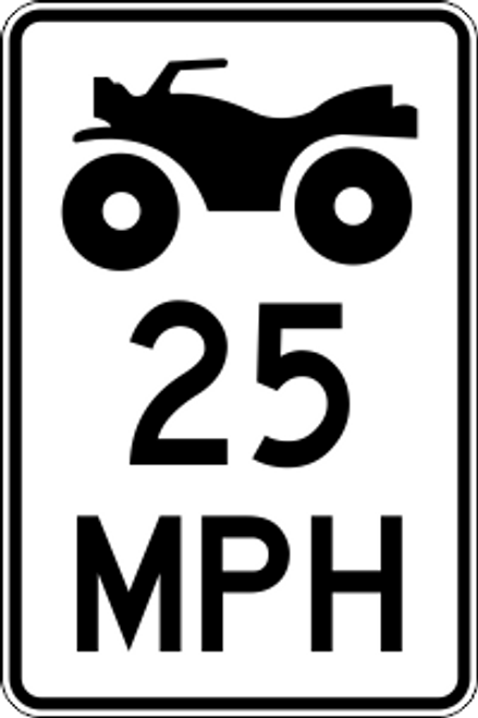 "12' x 18"" ATV MPH Limit Trail Sign"