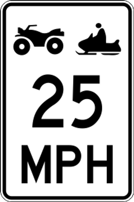 "12' x 18"" Snowmobile & ATV MPH Limit Trail Sign"