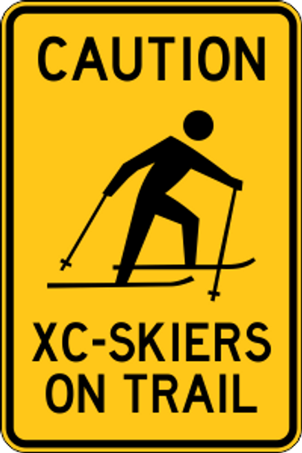 "12"" x 18"" XC-Skiers 0n Trail Sign"