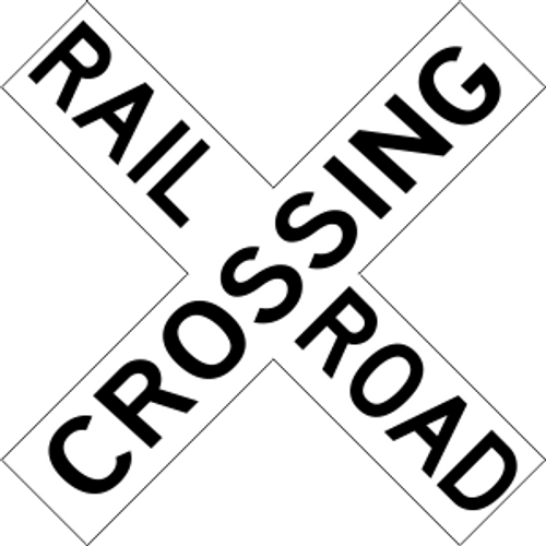 "12"" x 12"" Railroad Crossing Trail Sign"