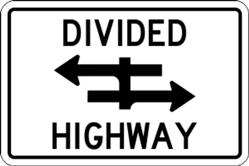 "18"" x 12"" Divided Highway Trail Sign"