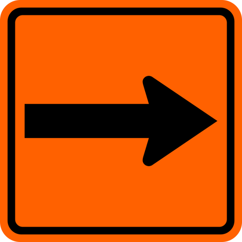 "6"" x 6"" Orange Blazer with Up Arrow Trail Marker (Square)"