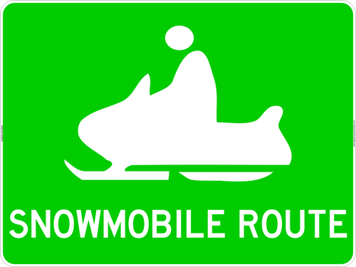 "24"" x 18"" Snowmobile Route Marker Sign"