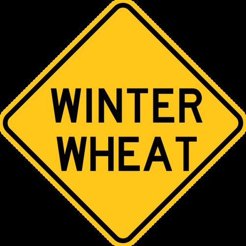 Winter Wheat Warning Sign Yellow