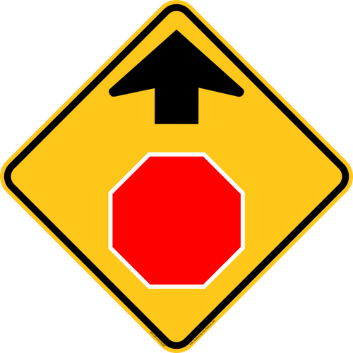 STOP Ahead Icon Warning Trail Sign
