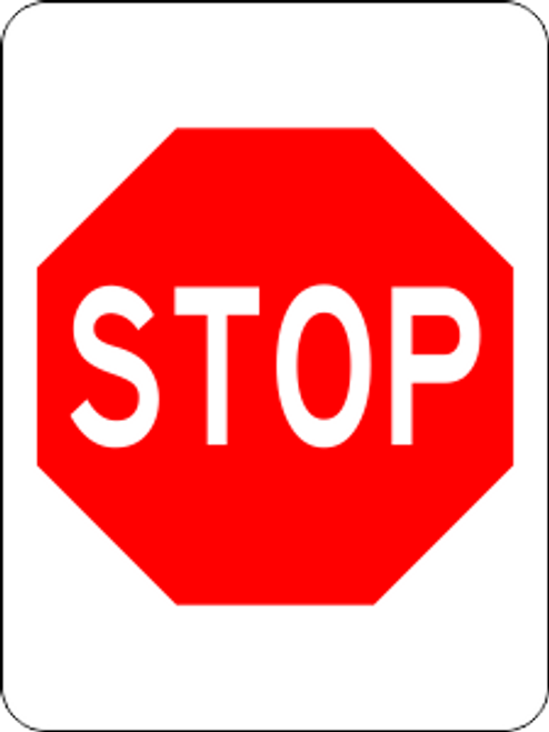 Stop Information Trail Sign