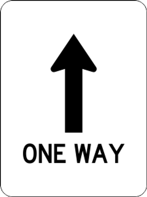 One Way Information Trail Sign