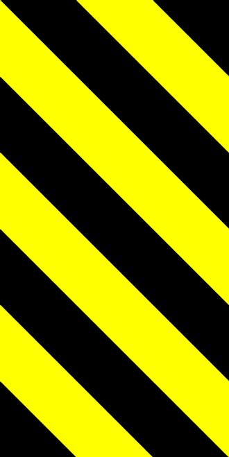 Bridge Lead-in Left Hazard Marker Sign