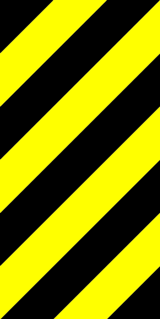 Bridge Lead-in Right Hazard Marker Sign
