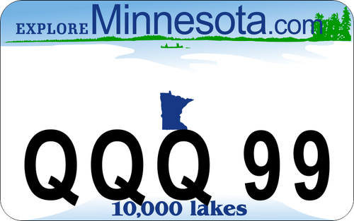 Minnesota ATV / UTV Custom License Plate
