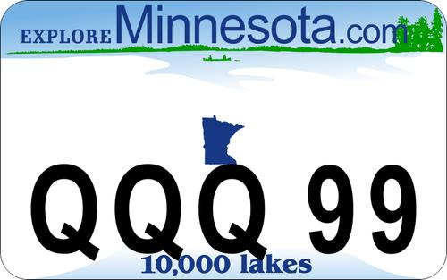 Minnesota DOT Style ATV / UTV Custom License Plate